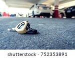 car key fall on ground in scene ... | Shutterstock . vector #752353891