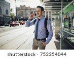 millennial businessman is... | Shutterstock . vector #752354044