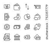 modern outline style finance... | Shutterstock .eps vector #752357779