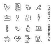 simple collection of medical...   Shutterstock .eps vector #752357827