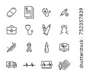 set of premium medical icons in ... | Shutterstock .eps vector #752357839