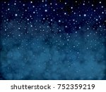 vector starry  night sky ... | Shutterstock .eps vector #752359219