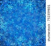 winter background | Shutterstock .eps vector #752359831