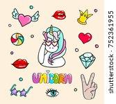 set of hand drawn illustrations ...   Shutterstock .eps vector #752361955