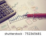 business strategy and financing ... | Shutterstock . vector #752365681