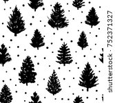 seamless pattern with christmas ... | Shutterstock .eps vector #752371327