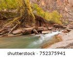 virgin river zion national park ... | Shutterstock . vector #752375941