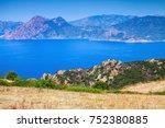 summer panoramic coastal...   Shutterstock . vector #752380885