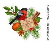 christmas vector festive... | Shutterstock .eps vector #752386849