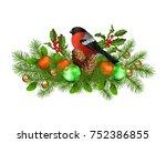 christmas vector festive... | Shutterstock .eps vector #752386855