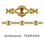 golden  ornamental segment  ... | Shutterstock . vector #752391844