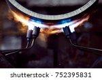 metal heat treatment | Shutterstock . vector #752395831