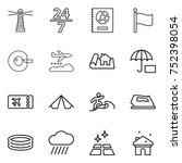 thin line icon set   lighthouse ... | Shutterstock .eps vector #752398054