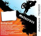 vector motocross background.... | Shutterstock .eps vector #75240319