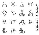 thin line icon set   man  bulb... | Shutterstock .eps vector #752404009