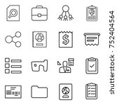 thin line icon set   search... | Shutterstock .eps vector #752404564