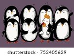 cock and penguin's chorus | Shutterstock .eps vector #752405629