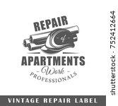 repair label isolated on white... | Shutterstock .eps vector #752412664