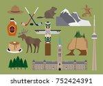 canada illustration  vector ... | Shutterstock .eps vector #752424391