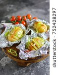 potatoes in foil with spices...