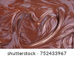 heart shaped melted dark... | Shutterstock . vector #752433967