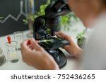 scientist doing research on... | Shutterstock . vector #752436265