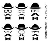 hipster style set | Shutterstock . vector #752443297