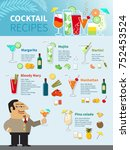 cocktail recipes poster of... | Shutterstock . vector #752453524