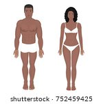 african american indian man and ... | Shutterstock .eps vector #752459425