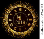 vector 2018 shiny merry... | Shutterstock .eps vector #752462194