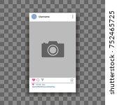 social network post frame blank.... | Shutterstock .eps vector #752465725