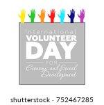 international volunteer day for ... | Shutterstock .eps vector #752467285