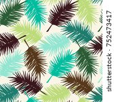 seamless exotic pattern with... | Shutterstock .eps vector #752473417