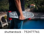 boy with skate | Shutterstock . vector #752477761