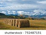 colorado hay bales near ouray... | Shutterstock . vector #752487151
