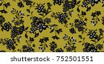 seamless floral pattern in... | Shutterstock .eps vector #752501551