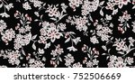 seamless floral pattern in... | Shutterstock .eps vector #752506669