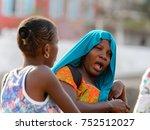 goree  senegal   apr 28  2017 ... | Shutterstock . vector #752512027