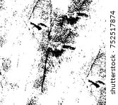 grunge texture black and white. ... | Shutterstock .eps vector #752517874