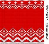 knitted christmas knitted...   Shutterstock .eps vector #752520031