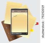 tablet note | Shutterstock .eps vector #75252019