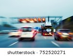 lorry with new cars driving on...   Shutterstock . vector #752520271