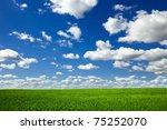 field on a background of the... | Shutterstock . vector #75252070