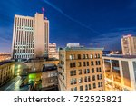 cedar rapids downtown skyline   Shutterstock . vector #752525821