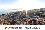 aerial view of the lisbon ... | Shutterstock . vector #752528371