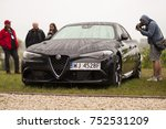 Small photo of Smoszewo, Poland - 09/02/2017: Afa Romeo Giulia Quadrifoglio at Forza Italia 2017