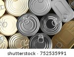 tin cans as background | Shutterstock . vector #752535991