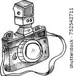 camera  old  sketch | Shutterstock .eps vector #752542711