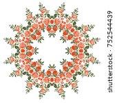 graceful circular floral pattern   Shutterstock .eps vector #752544439