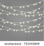 christmas lights isolated on... | Shutterstock .eps vector #752545849